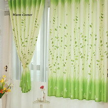 Warm Corner LM  Vine leaves Calico Finished Product Cloth Window Screens Curtain Free Shipping Sept 5