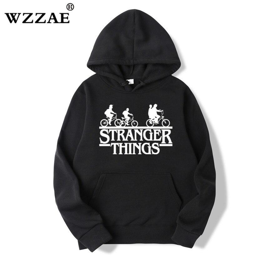 Trendy Faces Stranger Things Hooded Hoodies and Sweatshirts 40