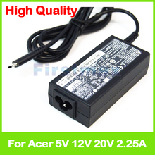 New 45W 5V 2.25A 12V 2.25A 20V 2.25A type C for Acer Spin 7 SP714-51 la