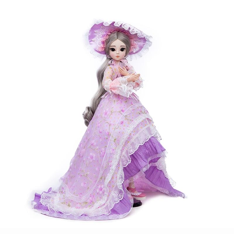 Princesa anna 1/3 60 CM BJD SD muñecas nueva llegada con vestido pelucas Shose sombrero maquillaje hermoso sueño niñas Juguetes-in Muñecas from Juguetes y pasatiempos    1