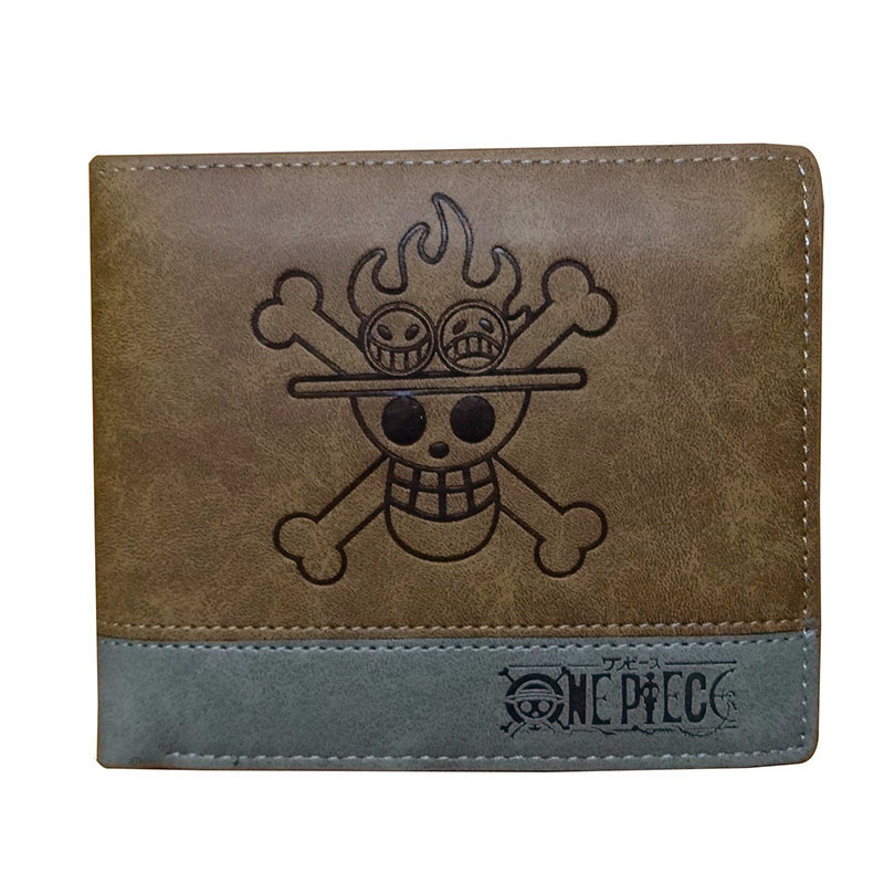 2018 New Anime Purse Fashion Leather Men Wallets Cartoon One Piece Card Holder Gifts Dollar Price Short Wallet with Coin Pocket new anime style spiderman men wallet pu leather card holder purse dollar price boys girls short wallets with zipper coin pocket