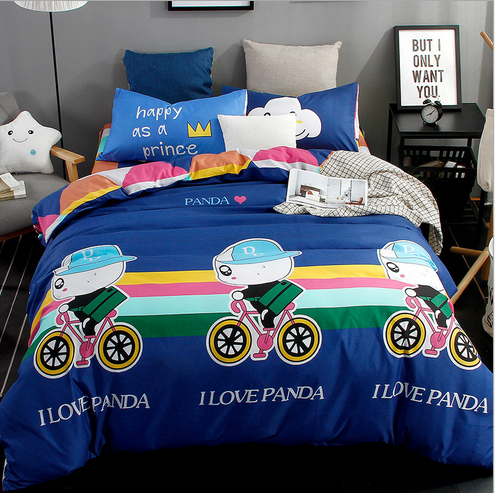 Lovely style happy riding comfortable bedding set Super King /King / Queen / Full/ Twin size bedding set 3Pcs/4Pcs bedclothes