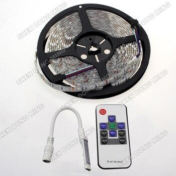 25M 60leds Non-waterproof IP22 SMD RGB led neon tape 5set/lot 7.2W/m 5050 RGB LED Strip Lights DC12V With Mini Controller