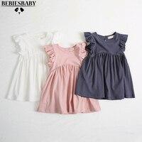 Baby Girls Dresses KIDS Newest Summer Dress Fly Sleeve Hollow Out Dress With Cotton Children Summer