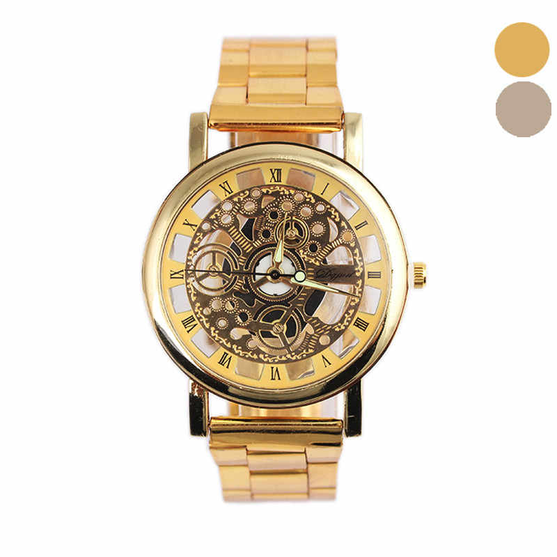 Skeleton Automatic Mechanical Watch Men Male Mens Watches Steel Analog Quartz Watches 2019 Top Brand Luxury Wristwatches New