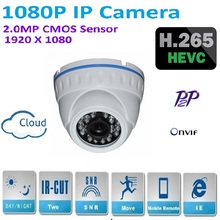 New mini H.265 2.0 Megapixel 1920*1080P Dome IP Camera Indoor home security Support P2P Android IOS ONVIF easy plug and play