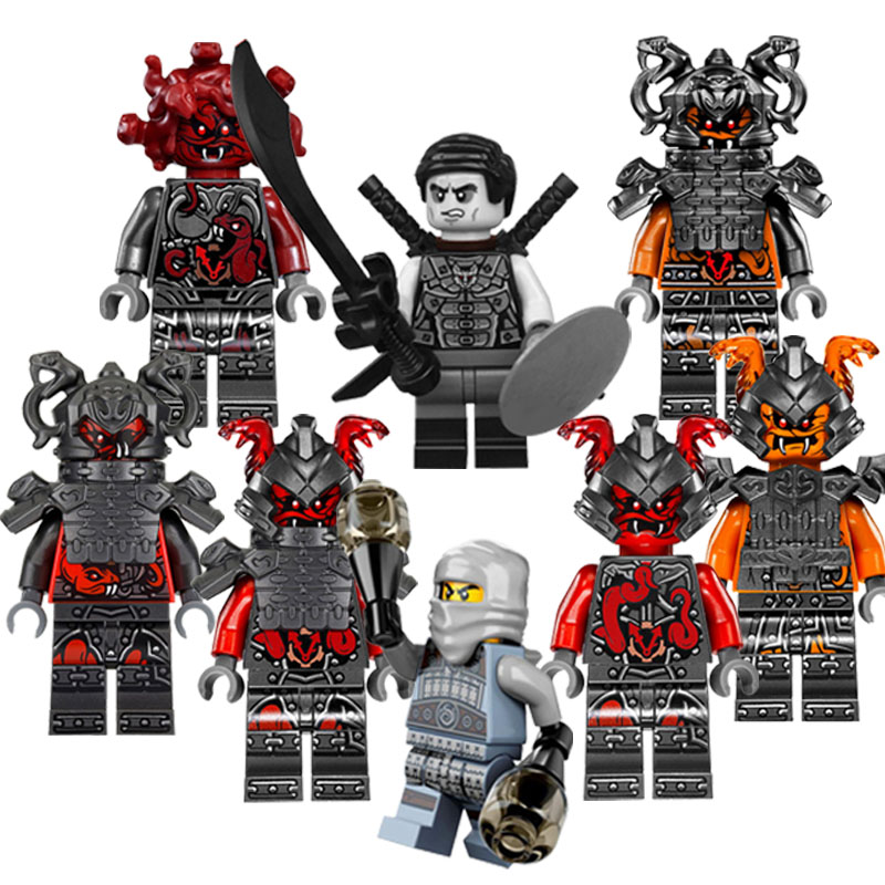 CZHY Ninja Blocks Bricks Figures Vermin The Wei Snake Bronk Action Mini Dolls DIY Hobbies Toys for Children XMAS GIFT PG8055 12pcs set children kids toys gift mini figures toys little pet animal cat dog lps action figures