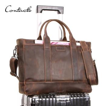 6ecf09a0f85e Product Offer. Контактная crazy horse Мужская барсетка из натуральной кожи  Большая вместительная сумка ...