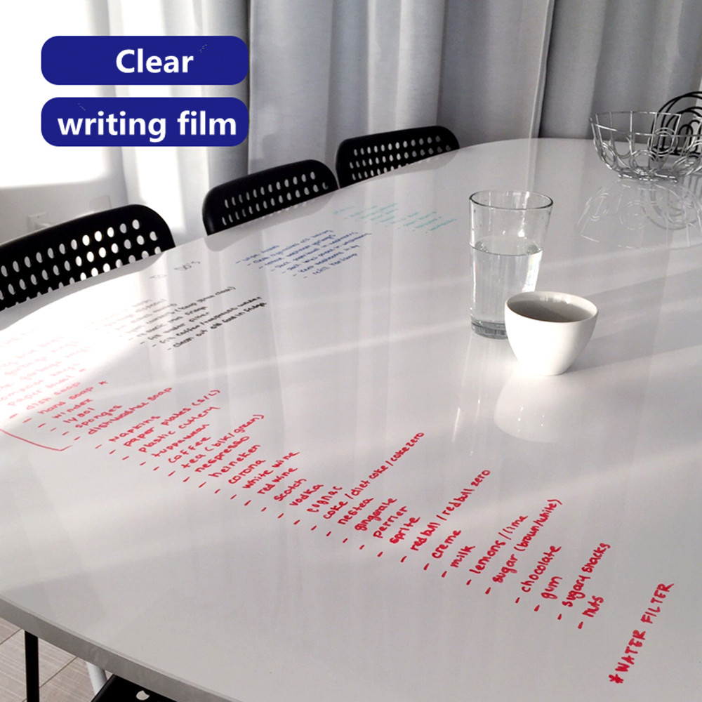 Whiteboard 1 52m x 5m Clear Whiteboard Film Kid Flexible PET Film Message Board Refrigerator Notes