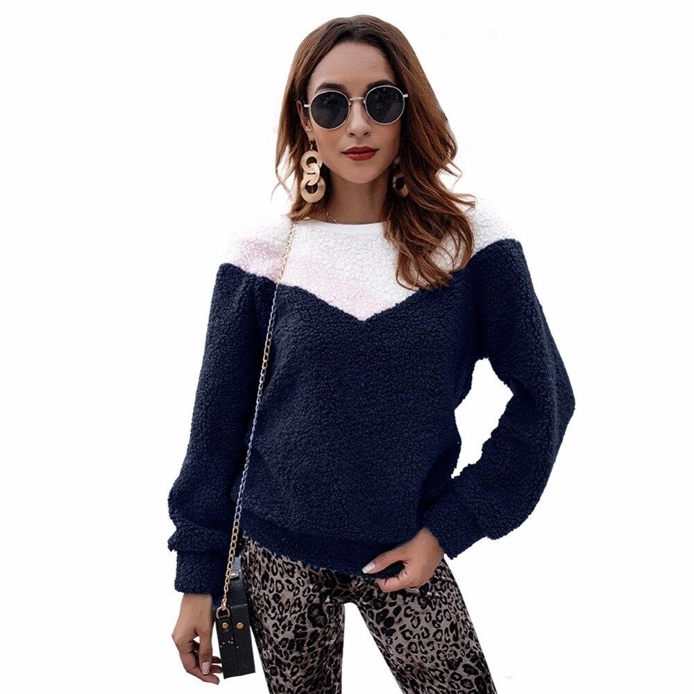 Sweet Fluffy: Sweet Fluffy Coral Fleece Women Sweatshirt Plus Size O
