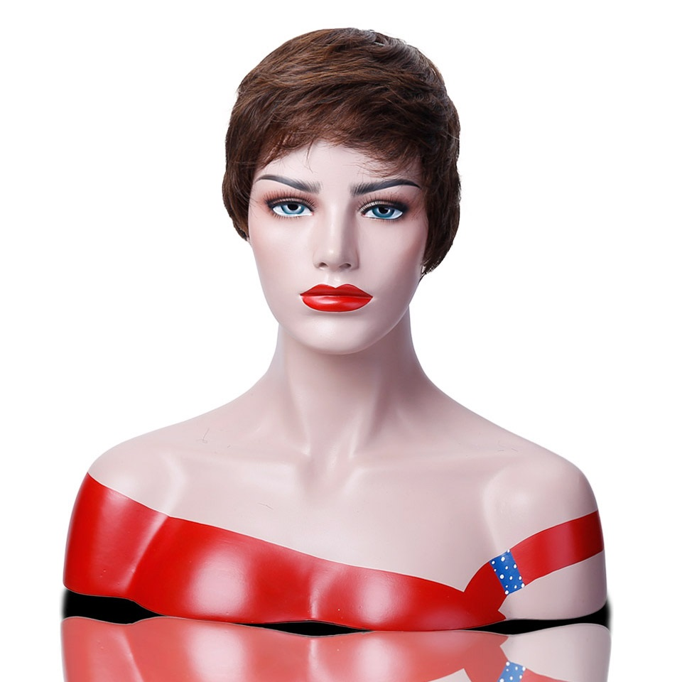DIFEI Short Hair High Temperature Fiber Wig Cospaly Wig Lady Halloween Party Costume Wig