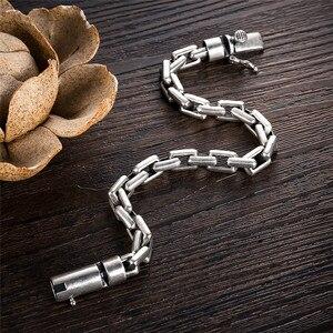 Image 4 - GAGAFEEL 6/8MM Male Bracelet 925 Sterling Silver Jewelry Punk Bangles Bracelets for Men Mens Fashion Jewelry