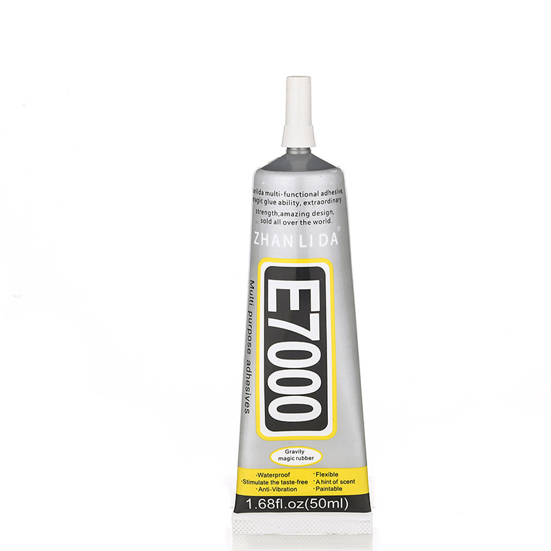 1Pack 50ml More Powerful Resin Adhesive, E7000 Strength Adhesive Clear Liquid Glue MultiPurpose Super Sealant Handset DIY Touch