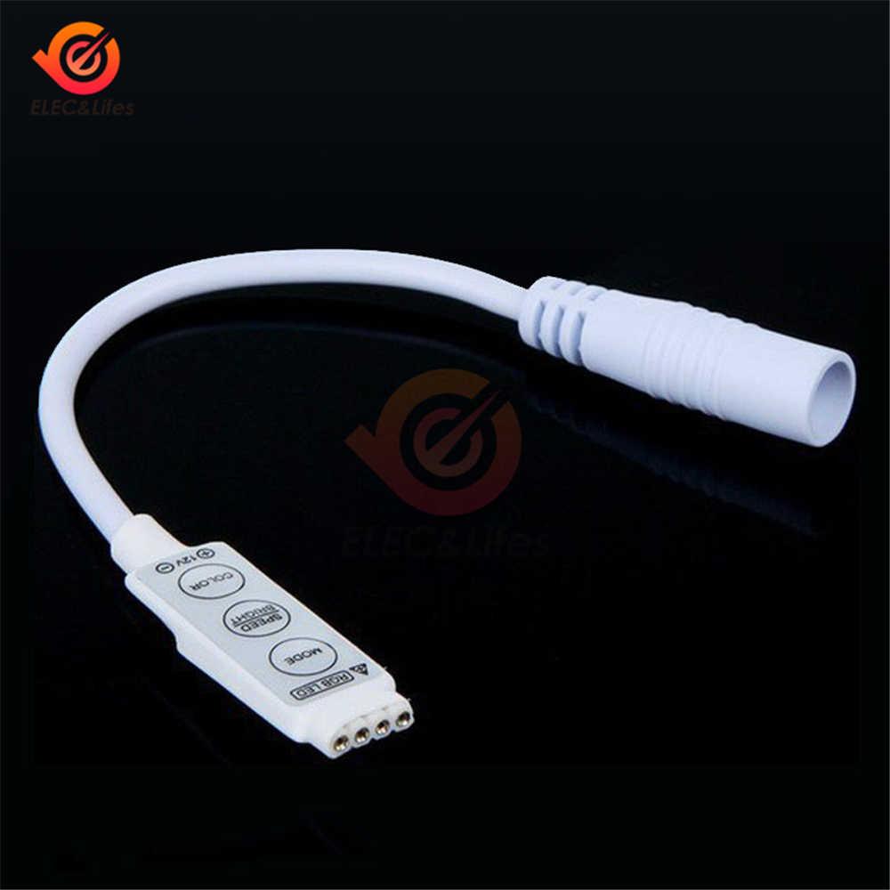 12V Mini LED gradateur variateur contrôleur connecteur pour lumière LED bande RGB 3528 5050 3 touches MF