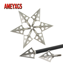 6/12pcs Archery 3 Blades Arrowhead Hunting Sharp Broadheads Arrow Tip Points For Bow And Shooting Accessories
