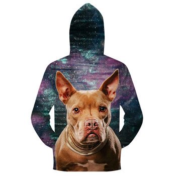 Dog Galaxy Men Zipper Hoodie  1