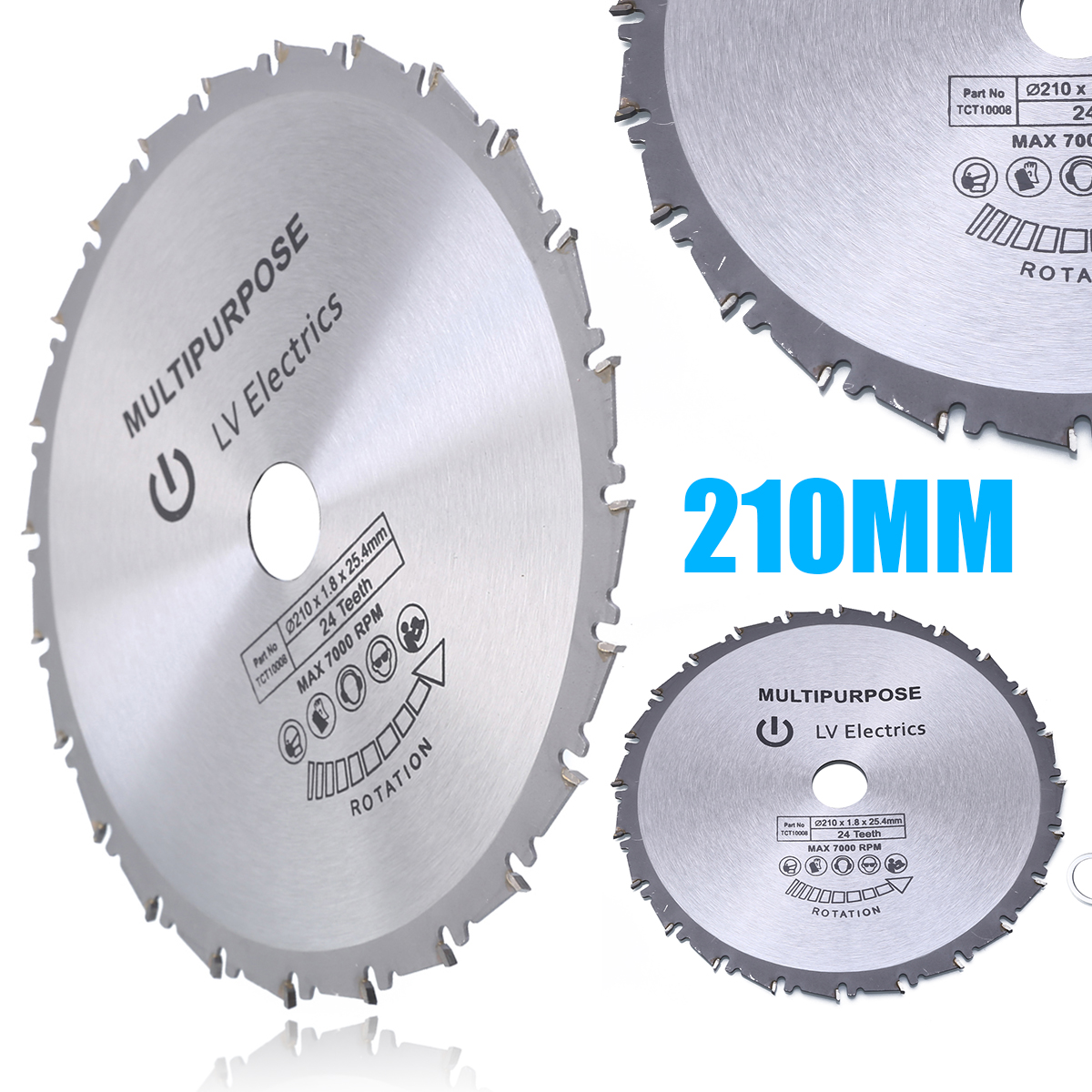 High Hardness 210mm Circular Saw Blade Disc Wood Plastic Circular Metal Saw Blade For Rage Rage4 RageB 25.4mm Bore Evolution 24T