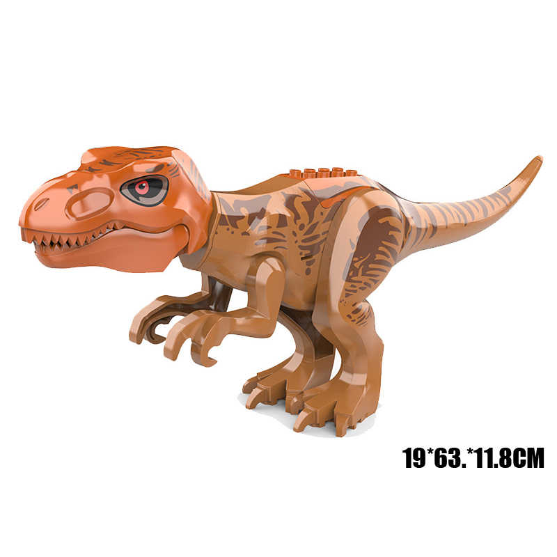 Carnotaurus Dinossauro Jurassic Park Tiranossauro Rex bloco mega Indominus Baryonyx Velociraptor modelo Spinosaurus brinquedo com som
