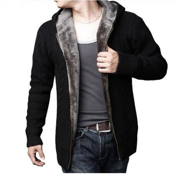 Cardigan Masculino 2017 New Winter Thick Warm Sweater Men Wool Sweaters High-quality Men's Hooded Loose Style Casual XXXL