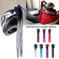 Style Punk Moto dispersé dégradé rampe casque tresses torsion tresse corne Motocross Moto hors route Moto décoration tresses