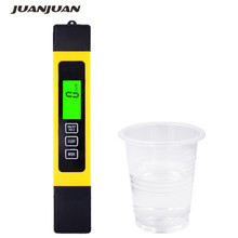Titanium alloy probe 3 in 1 High accurate 0.1 LCD Digital TDS EC Tester meter water quality monitor ppm 0-9999 with backlight