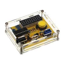 Новое поступление DIY Наборы 1 Гц-50 мГц кварцевый генератор тестер счетчик частоты тестер метр случае Лучшая цена прочный DIY светодио дный комплект