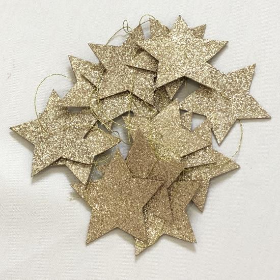 INS модели золото и серебро пятиконечная палатка со звездами Украшение Аксессуары декор комнаты - Цвет: 15 pieces stars G
