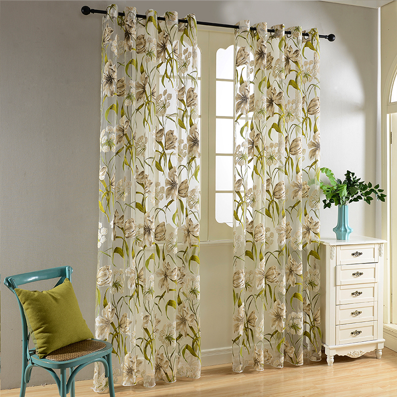 Tropical Flowers Curtains 3