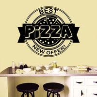 Wall Decals Italian Pizza Pizzeria Fast Food Vinyl Sticker Decor