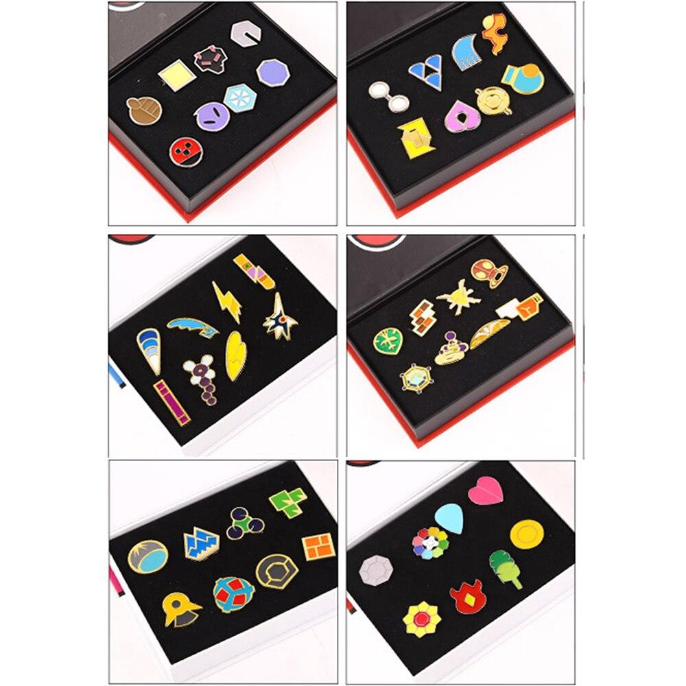 Pokemon Badge Pokemon Go Badge Brooch mini Zinc Alloy Figures model Pokemon cosplay small decoration with gift box