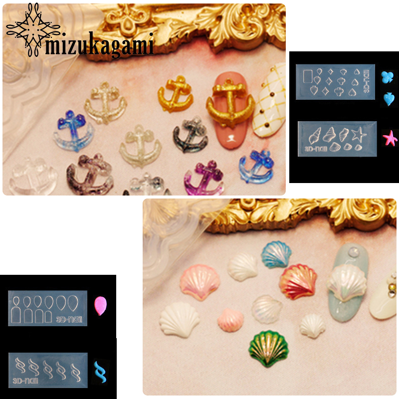 1pcs UV Resin Jewelry Liquid Silicone Mold Poker Icons Shell Geometry Resin Charms Molds For DIY Decorate Making Jewelry