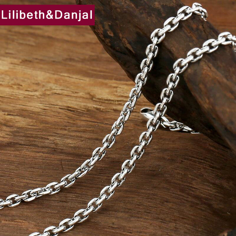 Necklace vintage chain 100% 925 sterling silver fashion jewelry necklace pendant for women and men GN1Necklace vintage chain 100% 925 sterling silver fashion jewelry necklace pendant for women and men GN1