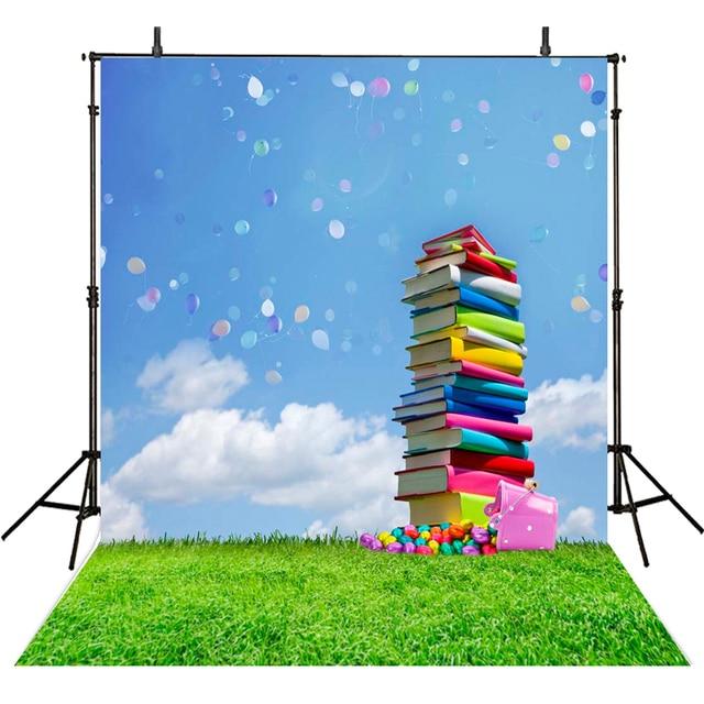 Colorful Graduation Backdropbackground Photography Books