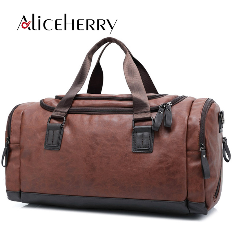 Men Travel Bag Vintage Women Tote High Quality PU Leather Casual Travel Duffel Bag Black Blue Brown Weekend Bags big volume weekend bag for man in pu material men s business leather travel bag men duffel bag high quality men shoulder bags
