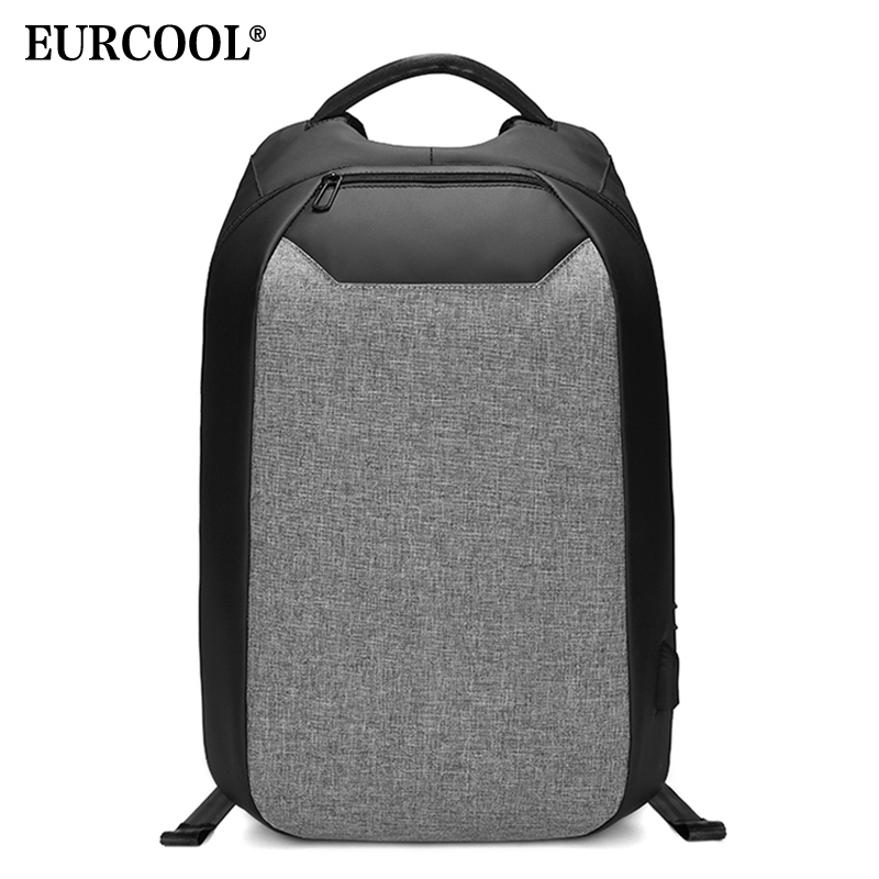 EURCOOL Multifunction Travel Backpack Anti-theft 15.6 Laptop Bags Water Repellent USB Charge Port Teenage School Backpacks n232EURCOOL Multifunction Travel Backpack Anti-theft 15.6 Laptop Bags Water Repellent USB Charge Port Teenage School Backpacks n232