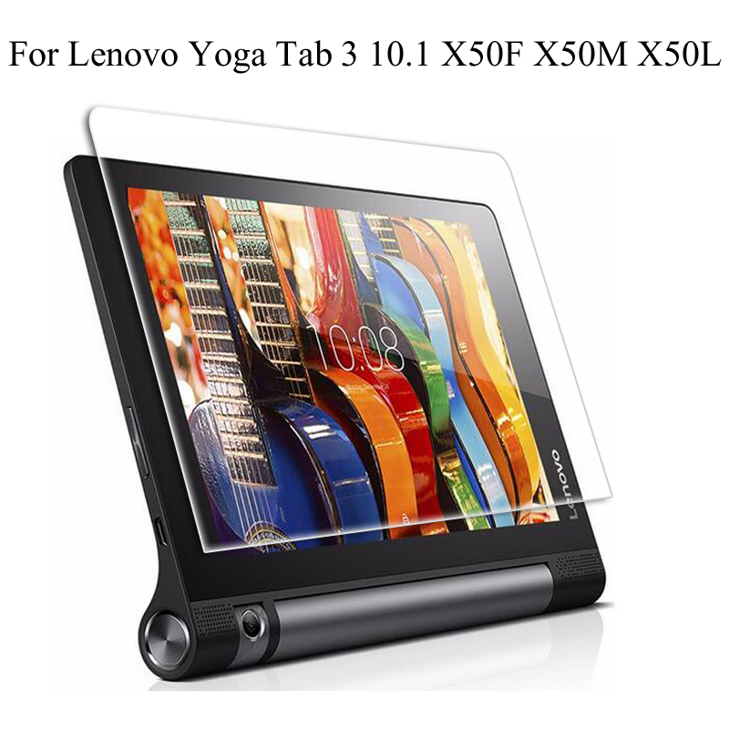 Galleria fotografica For Lenovo Yoga Tab 3 10 Tab3 10.1 X50F X50M X50L Steel film Tablet Screen Protection Toughened Tempered Glass membrane