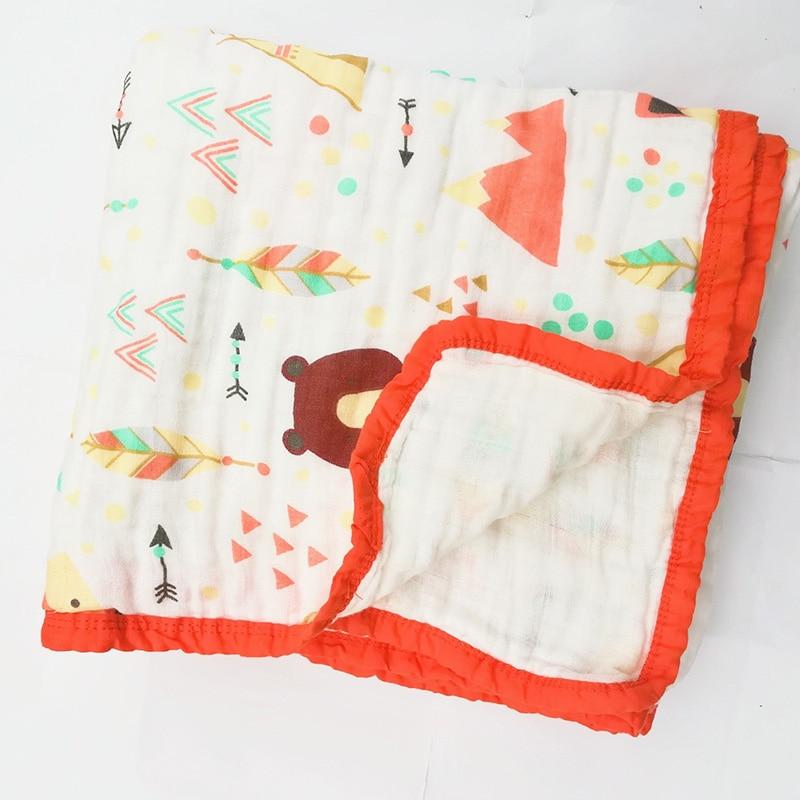 3 Layer 100% Cotton Blanket Newborn Baby Swaddling Super Comfy Bedding Blankets Swaddle Wrap Babies Muslin Blanket
