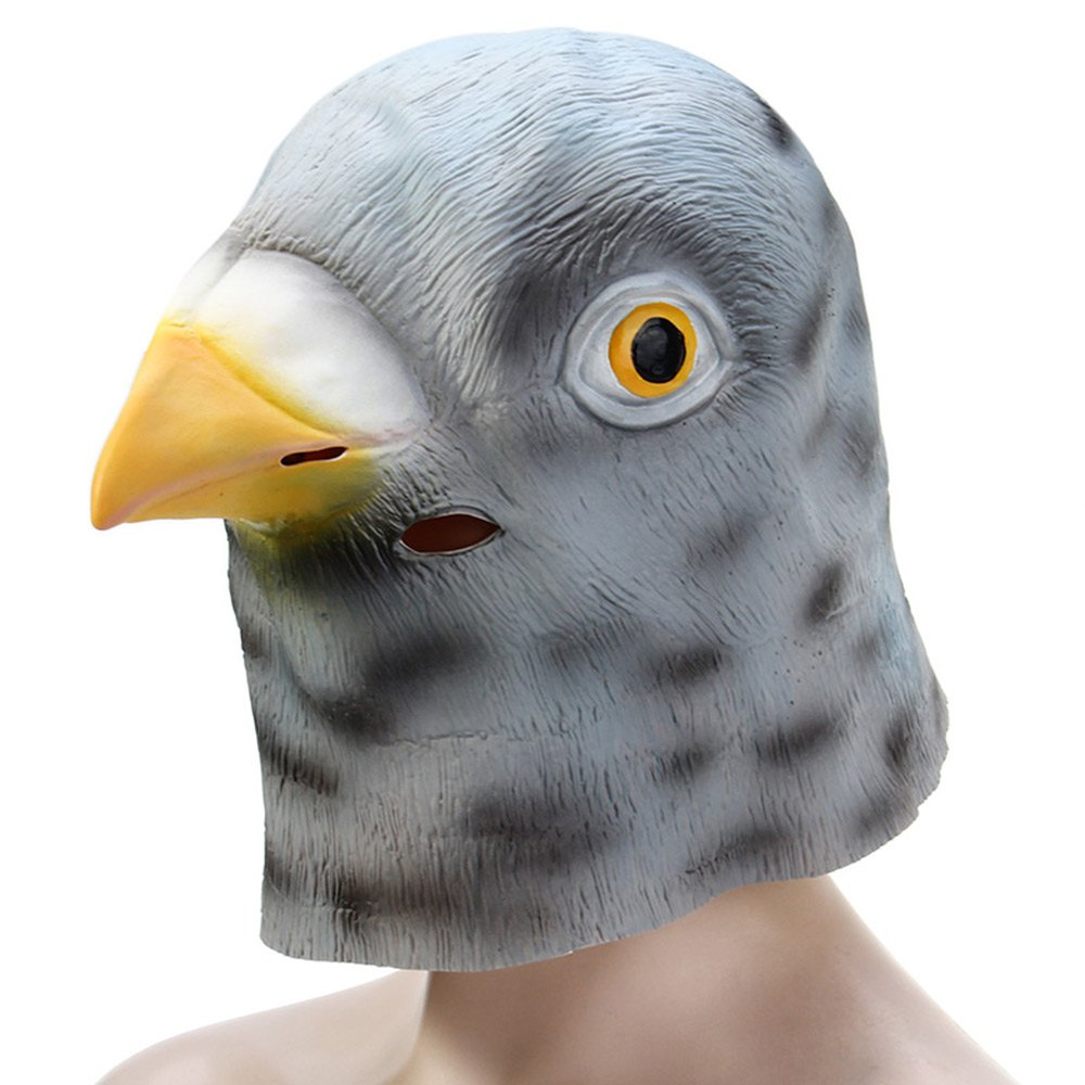 Full Face Bird Mask Cool Silicone Punk Adults Kids Cool Individual ...