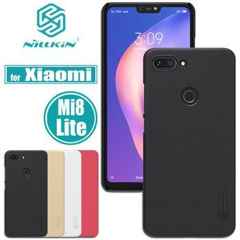 big sale 368b7 79a34 Xiaomi Mi 8 Lite Case Mi8 Lite Cover Nillkin Frosted Matte Hard PC Plastic  Phone Back Bag Cases for Xiaomi M8 Lite Nilkin Capa
