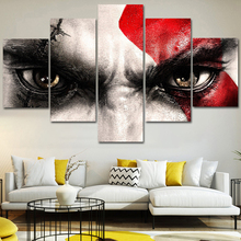 Modular HD 5 Piece Wall Art pictures Canvas poster and print Oil Painting God of War Kratos for livingroom frame
