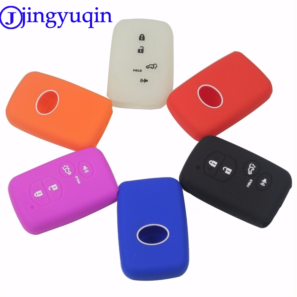 jingyuqin 4 Buttons Remote Silicone Car-Styling Cover Case For Toyota Highlander Prius V Venza Land Cruiser Camry Smart Key