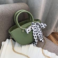 купить Female Crossbody Tote Bag Women 2019 Quality Leather Luxury Handbag Designer Sac A Main Ladies Scarve Bow Shoulder Messenger Bag по цене 976.32 рублей