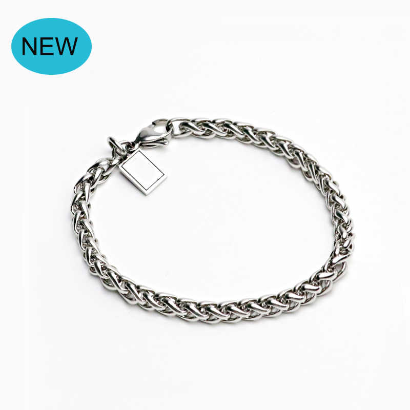 2018 Fashion Stainless Steel Link Chain Bracelet For Men Women Wristband Hand Charm Link Bracelets Jewelry Christmas Gifts 045
