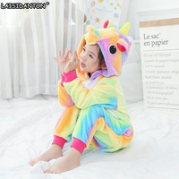 LAISIDANTON Pyjamas Women Flannel Unisex Adult Children Pajamas Unicorn Pijama For Couples Lovers Hooded Pijama De