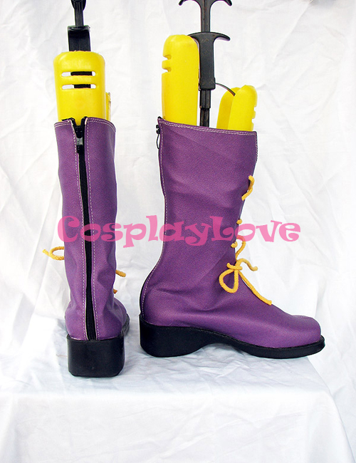 Shugo Chara Hinamori Amu Purple Cosplay Shoes Boots Custom Made Hand Made For Halloween Christmas Festival