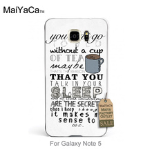 High Quality Classic High-end Phone Accessories One Direction Little Things Cool a cup coffee For GALAXY note5 case