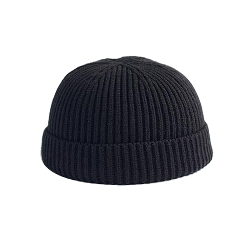 Men Knitted Hat Beanie Skullcap Sailor Cap Cuff Brimless Retro Navy Style Beanie Hat TT@88 3