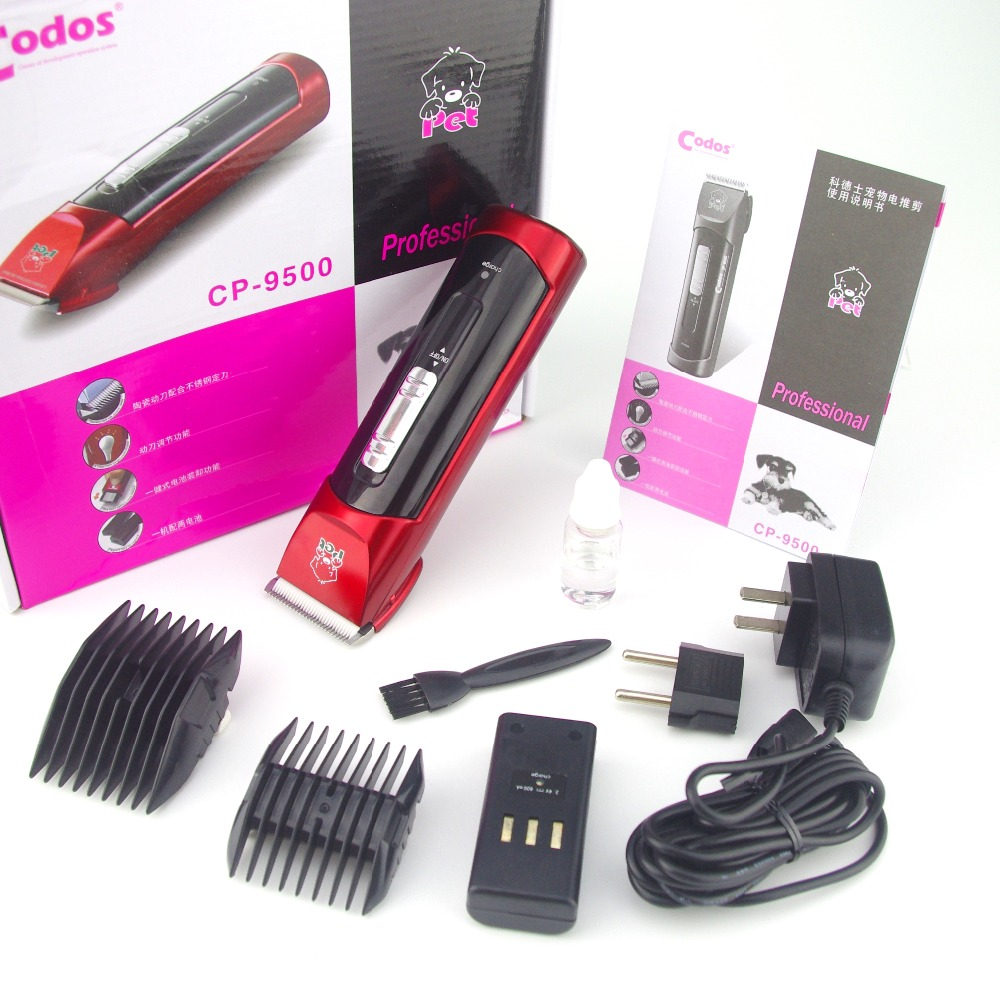 New Professional Pet Electric Shaver Dog Trimmer Clipper Dual Batteries 4 Adjustable Cutting Length Codos CP9500