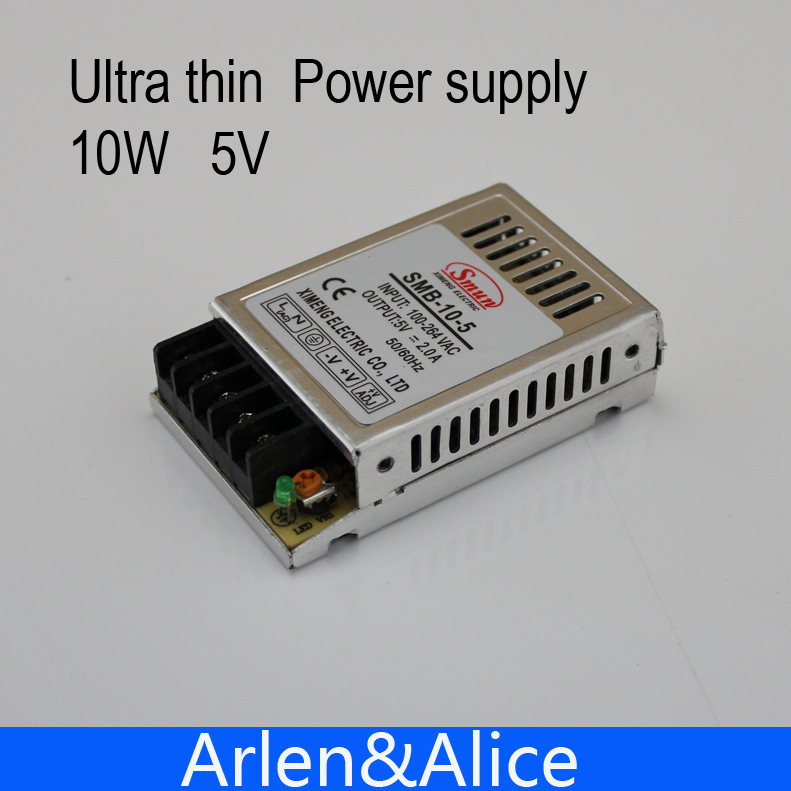 10W 5V Ultra thin Single Output Switching power supply for LED Strip light 90V-260V AC Input 201w led switching power supply 85 265ac input 40a 16 5a 8 3a 4 2a for led strip light power suply 5v 12v output