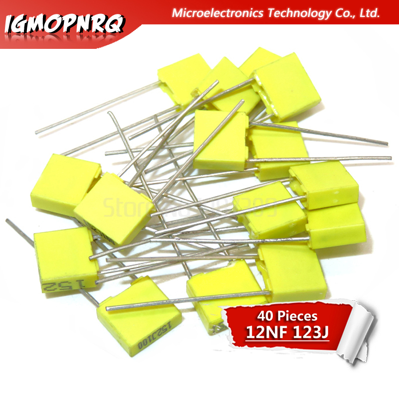 50pcs 2A123J 100V 0.012UF 12NF Polyester Film Capacitors